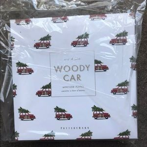 Pottery Barn Woody Car salad plate set (4) New
